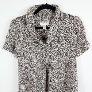 Christopher & Banks Animal Print Tunic Dress